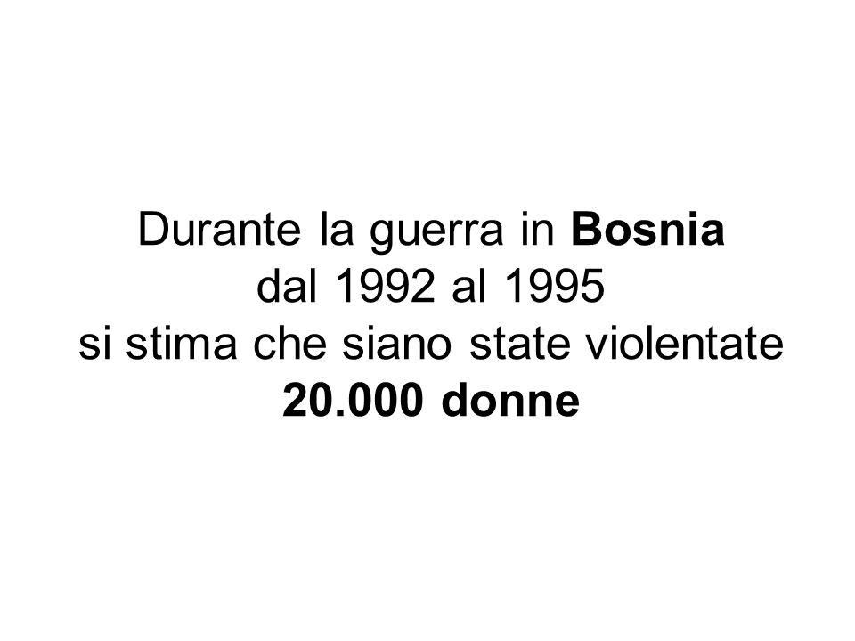 Durante la guerra in Bosnia dal 1992 al 1995
