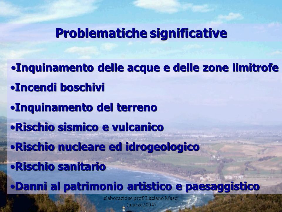 Problematiche significative