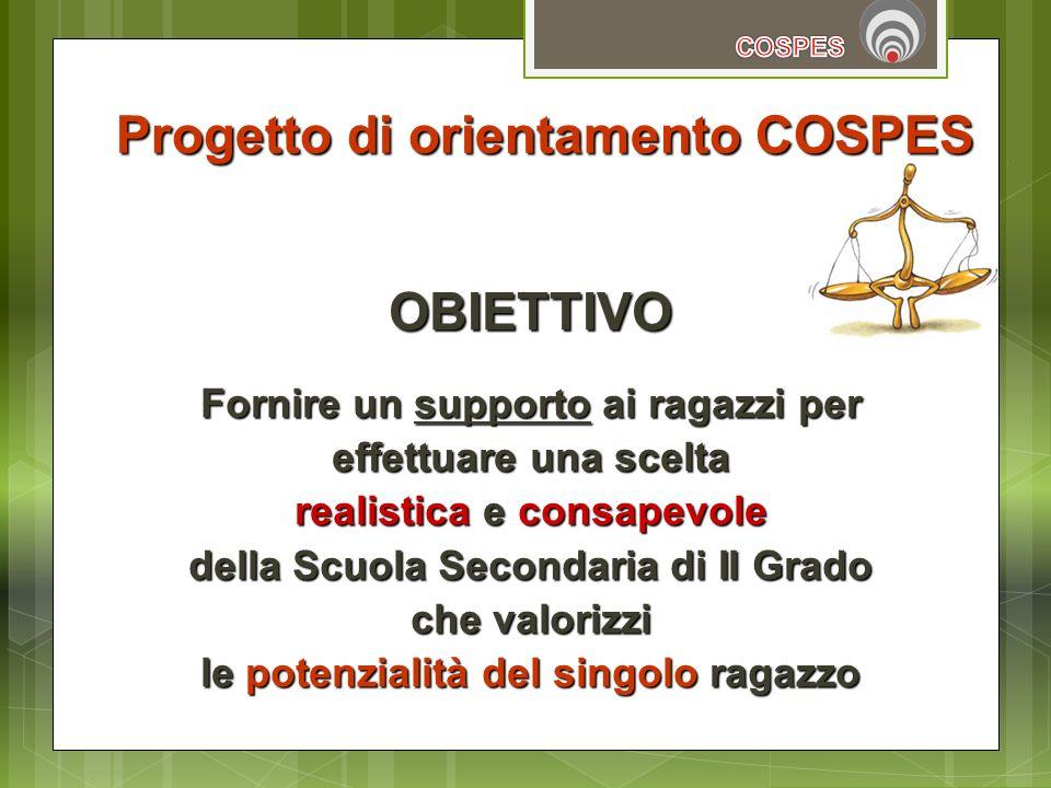 Progetto di orientamento COSPES