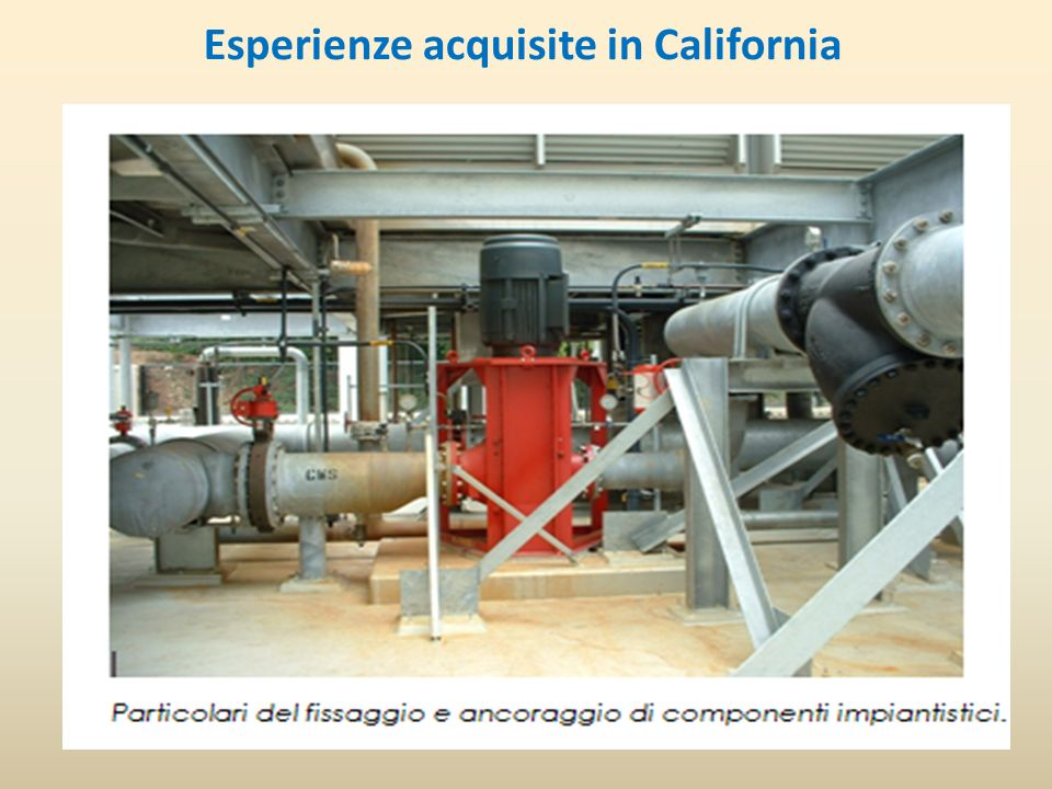 Esperienze acquisite in California