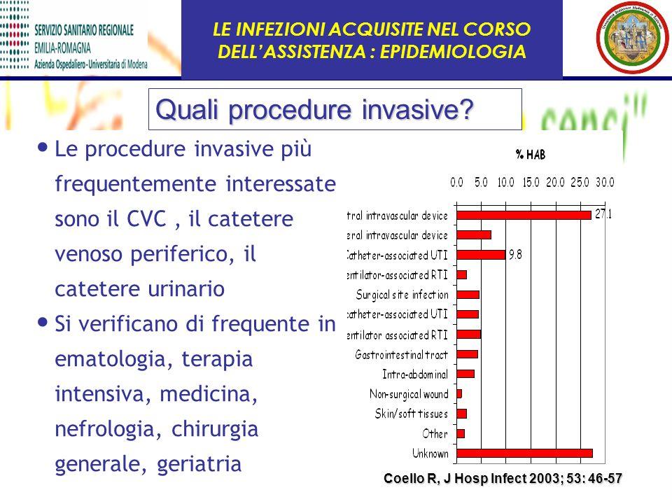LE INFEZIONI ACQUISITE NEL CORSO DELL'ASSISTENZA : EPIDEMIOLOGIA