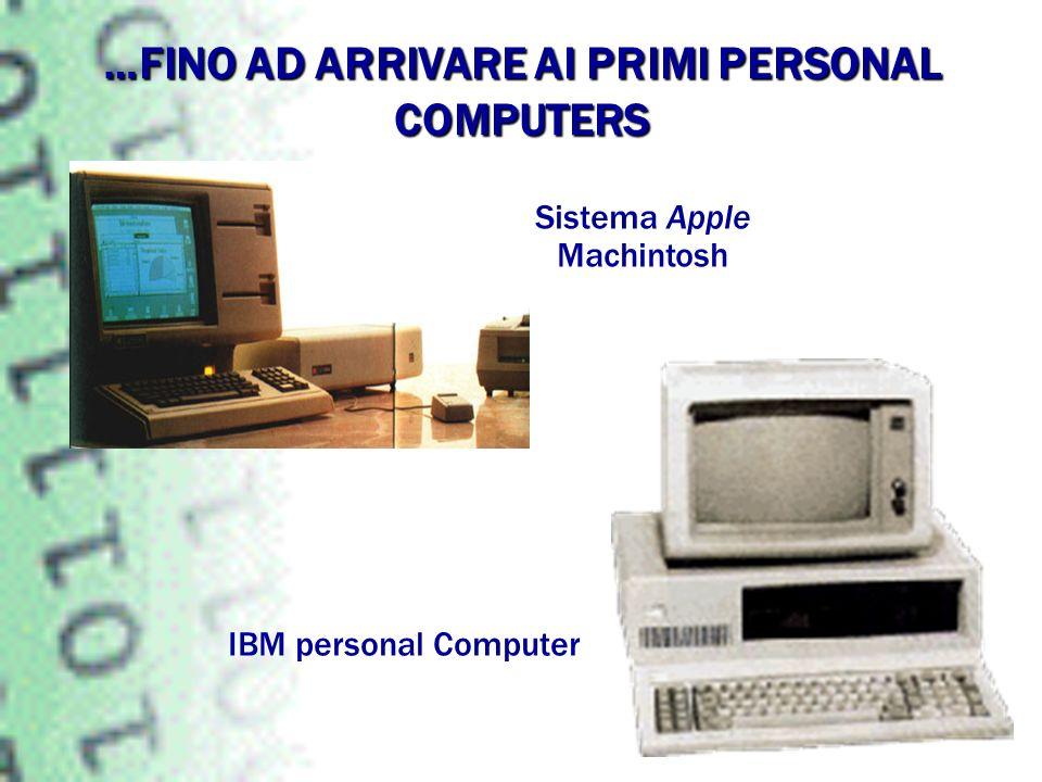 …FINO AD ARRIVARE AI PRIMI PERSONAL COMPUTERS