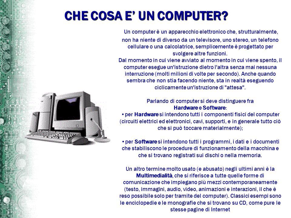 Parlando di computer si deve distinguere fra