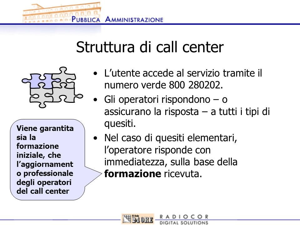 Struttura di call center