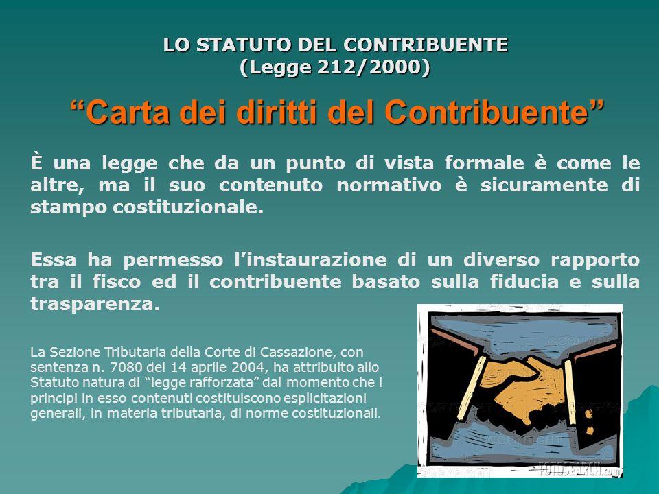Carta dei diritti del Contribuente
