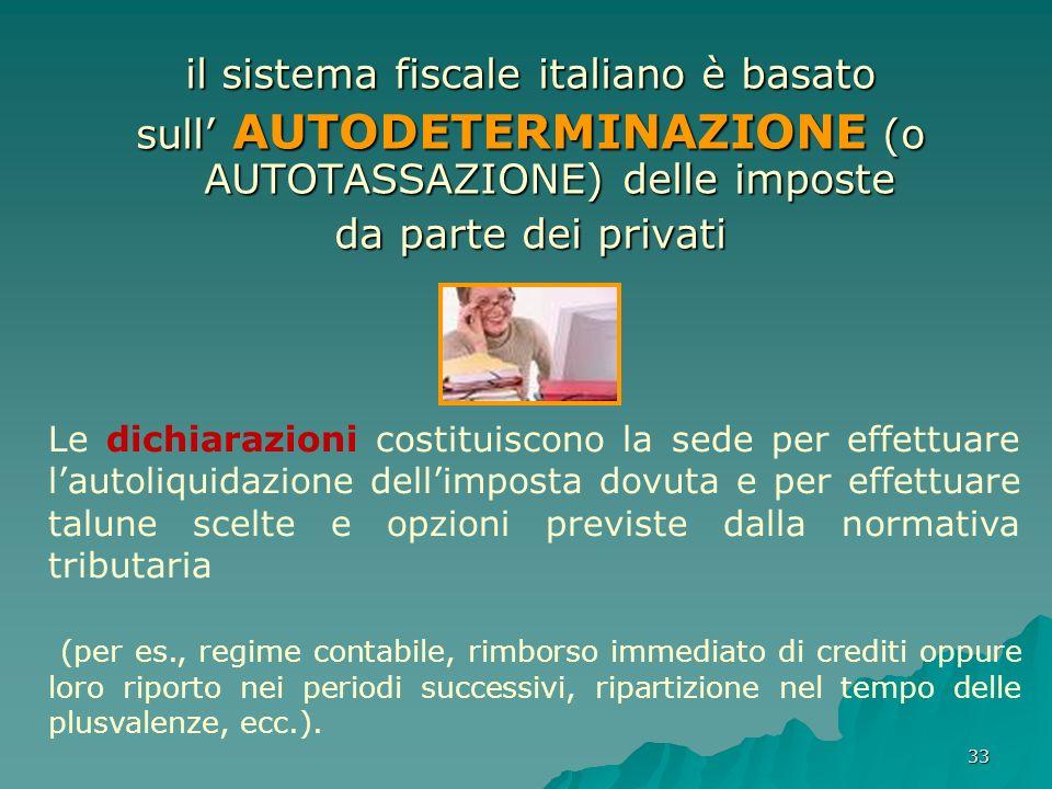 il sistema fiscale italiano è basato