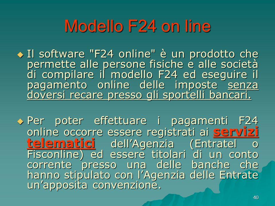 Modello F24 on line
