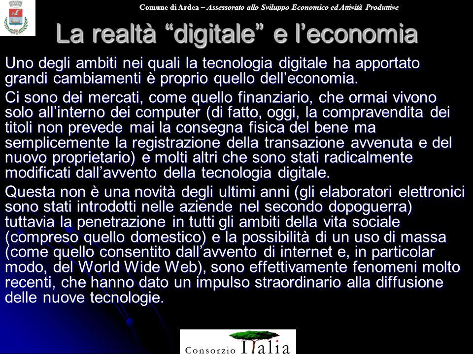 La realtà digitale e l'economia