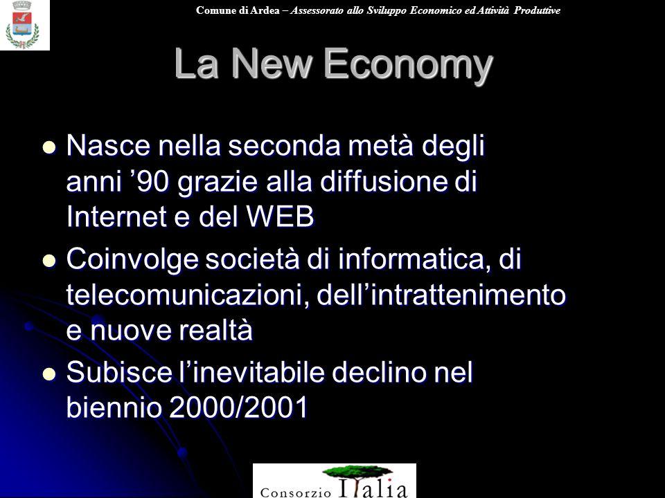 La New Economy Nasce nella seconda metà degli anni '90 grazie alla diffusione di Internet e del WEB.