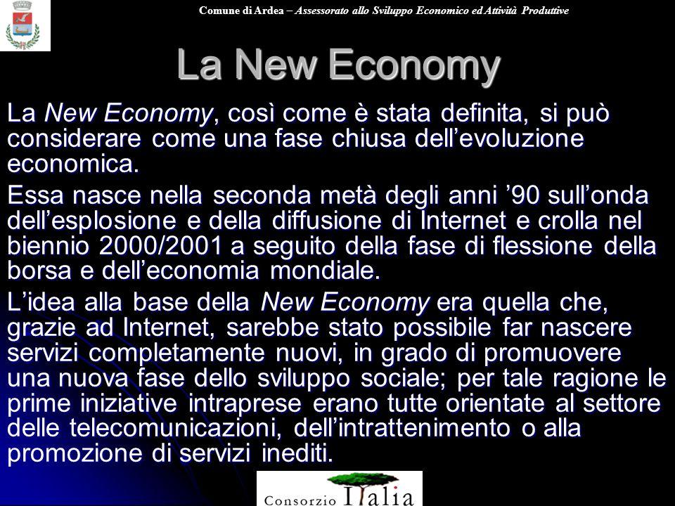 La New Economy La New Economy, così come è stata definita, si può considerare come una fase chiusa dell'evoluzione economica.