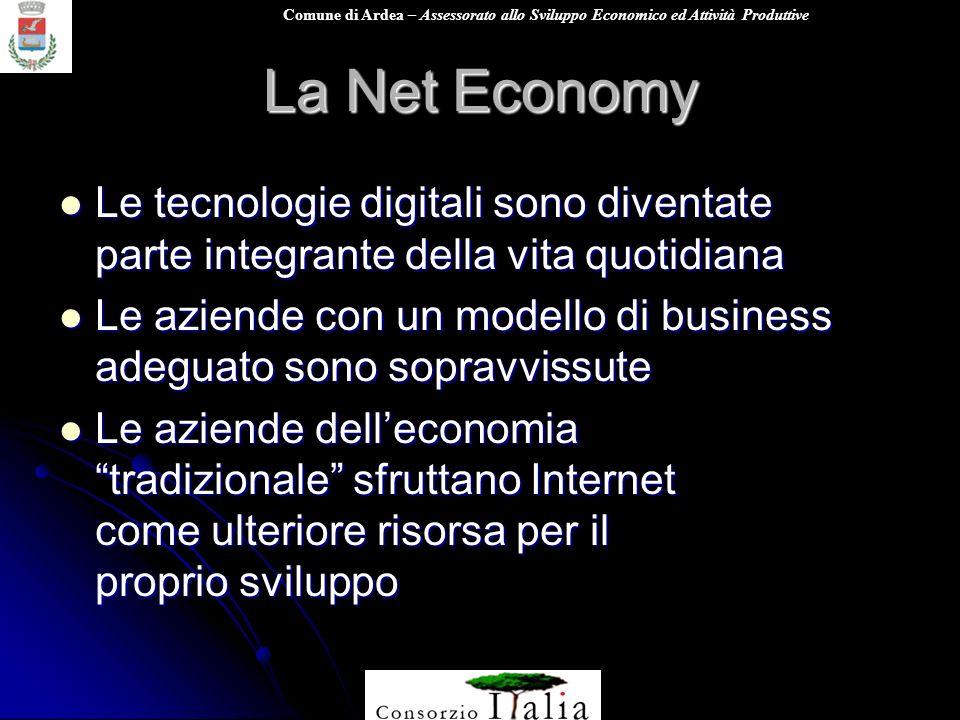 La Net Economy Le tecnologie digitali sono diventate parte integrante della vita quotidiana.