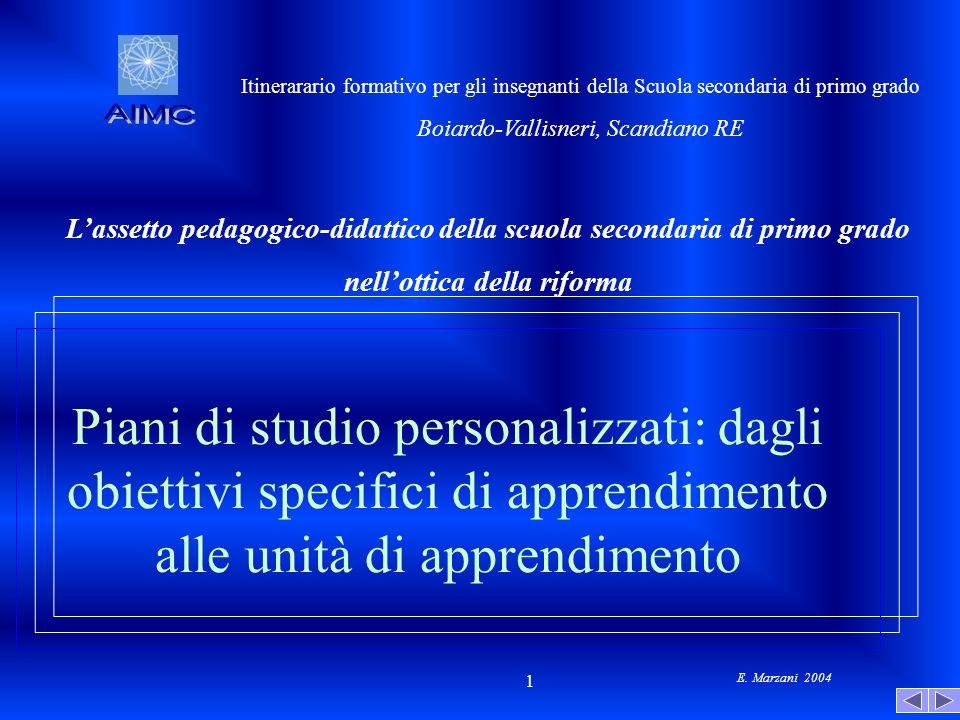 AIMC Itinerarario formativo per gli insegnanti della Scuola secondaria di primo grado. Boiardo-Vallisneri, Scandiano RE.