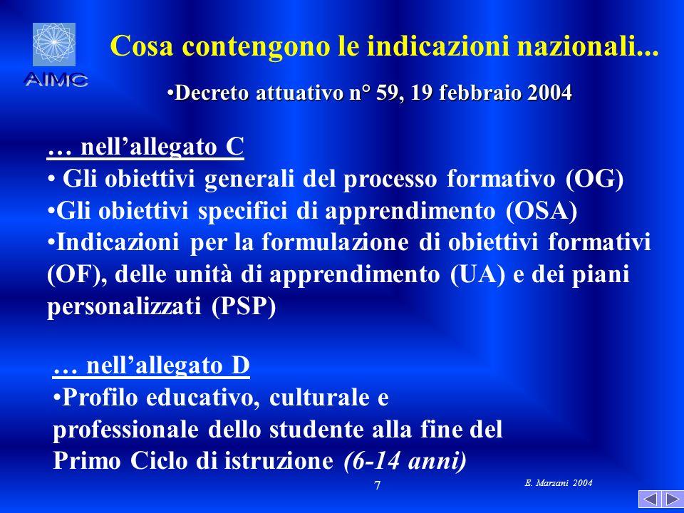 Decreto attuativo n° 59, 19 febbraio 2004