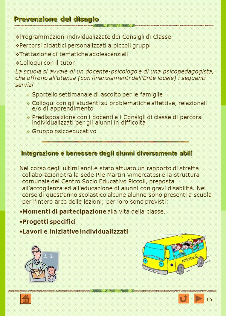 Prevenzione del disagio