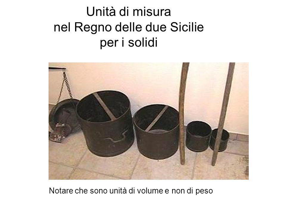 Unità di misura nel Regno delle due Sicilie per i solidi