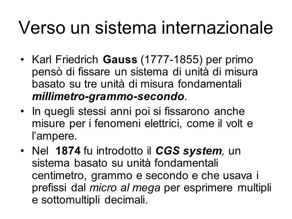 Verso un sistema internazionale