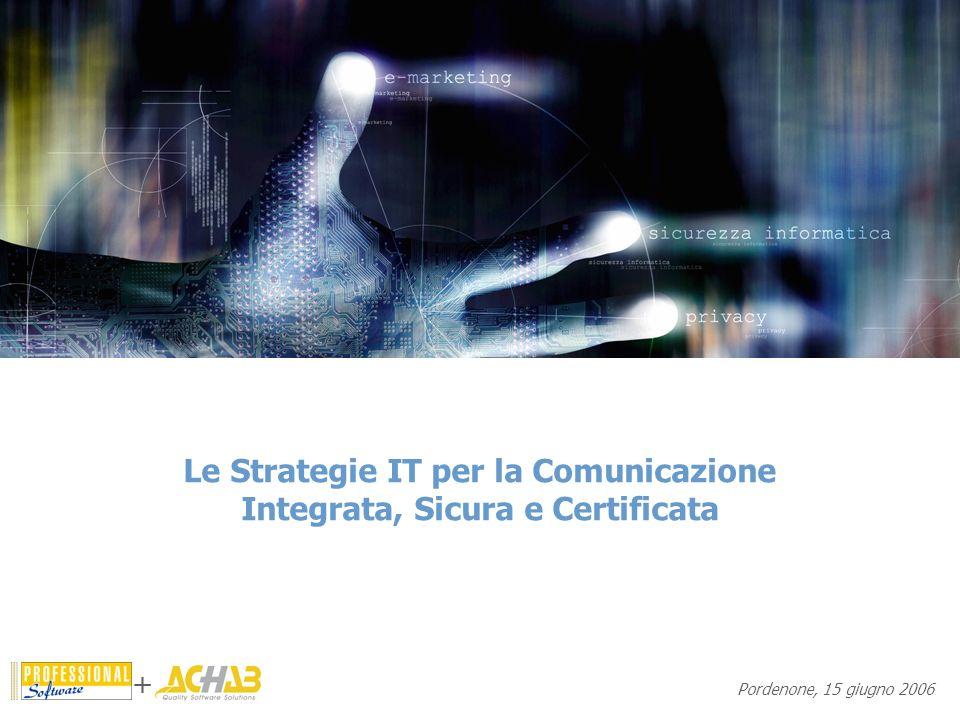 Le Strategie IT per la Comunicazione Integrata, Sicura e Certificata