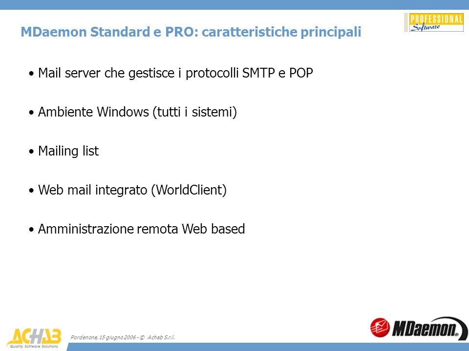 MDaemon Standard e PRO: caratteristiche principali