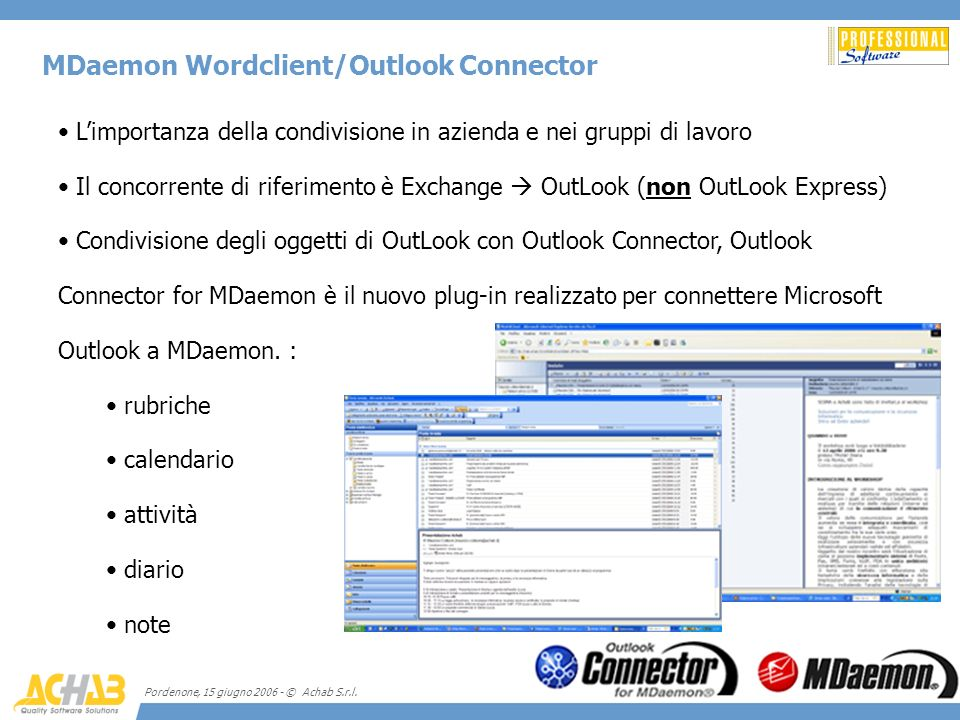MDaemon Wordclient/Outlook Connector