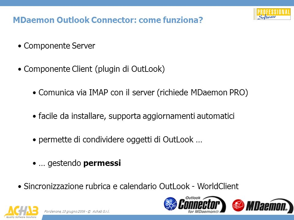 MDaemon Outlook Connector: come funziona