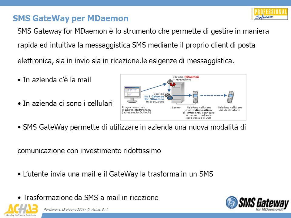 SMS GateWay per MDaemon