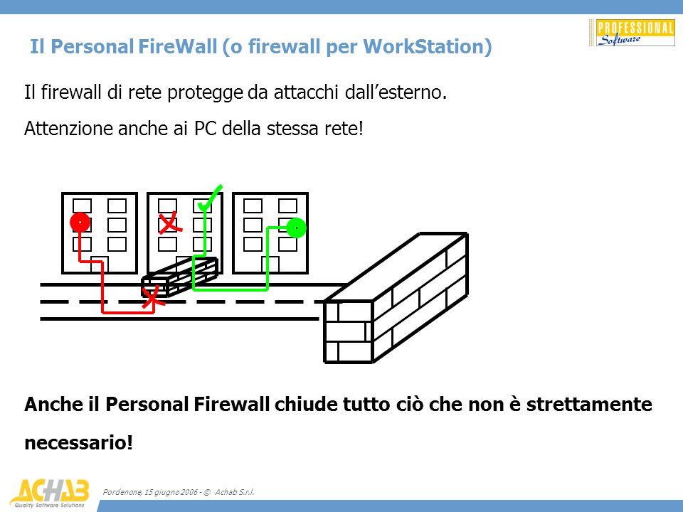 Il Personal FireWall (o firewall per WorkStation)