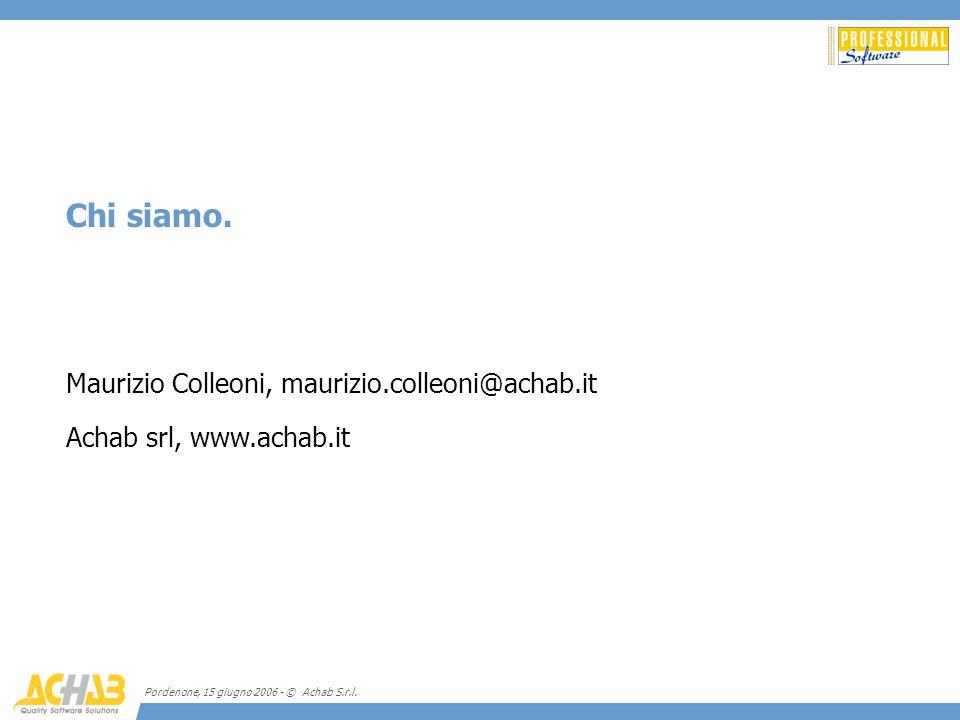 Chi siamo. Maurizio Colleoni, maurizio.colleoni@achab.it