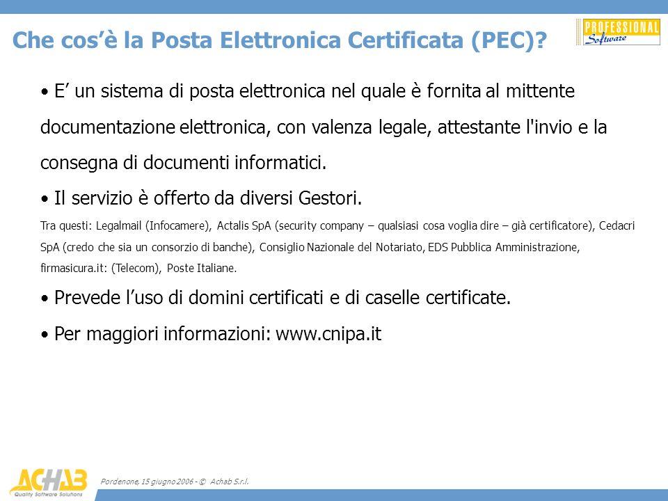 Che cos'è la Posta Elettronica Certificata (PEC)