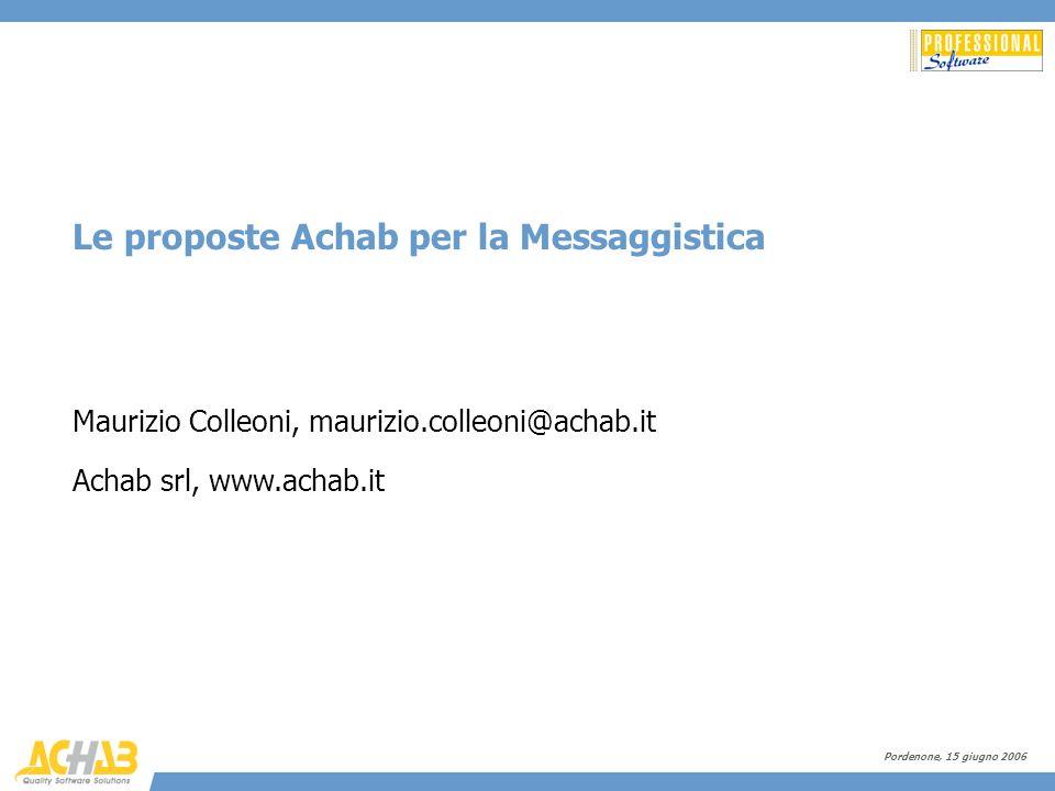 Le proposte Achab per la Messaggistica