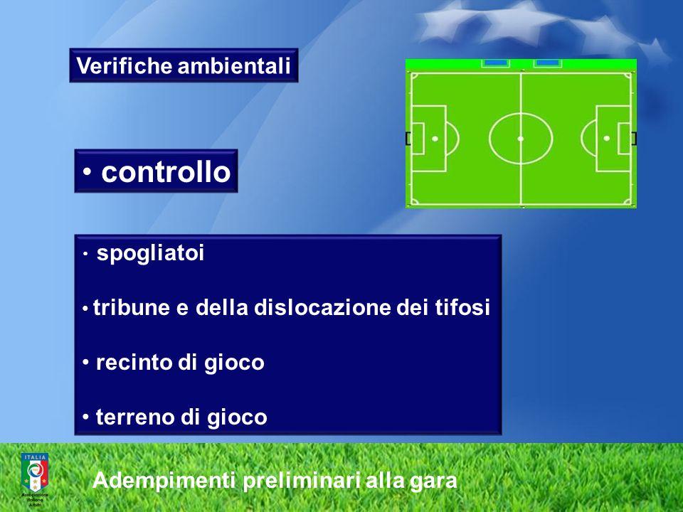 controllo Verifiche ambientali recinto di gioco terreno di gioco