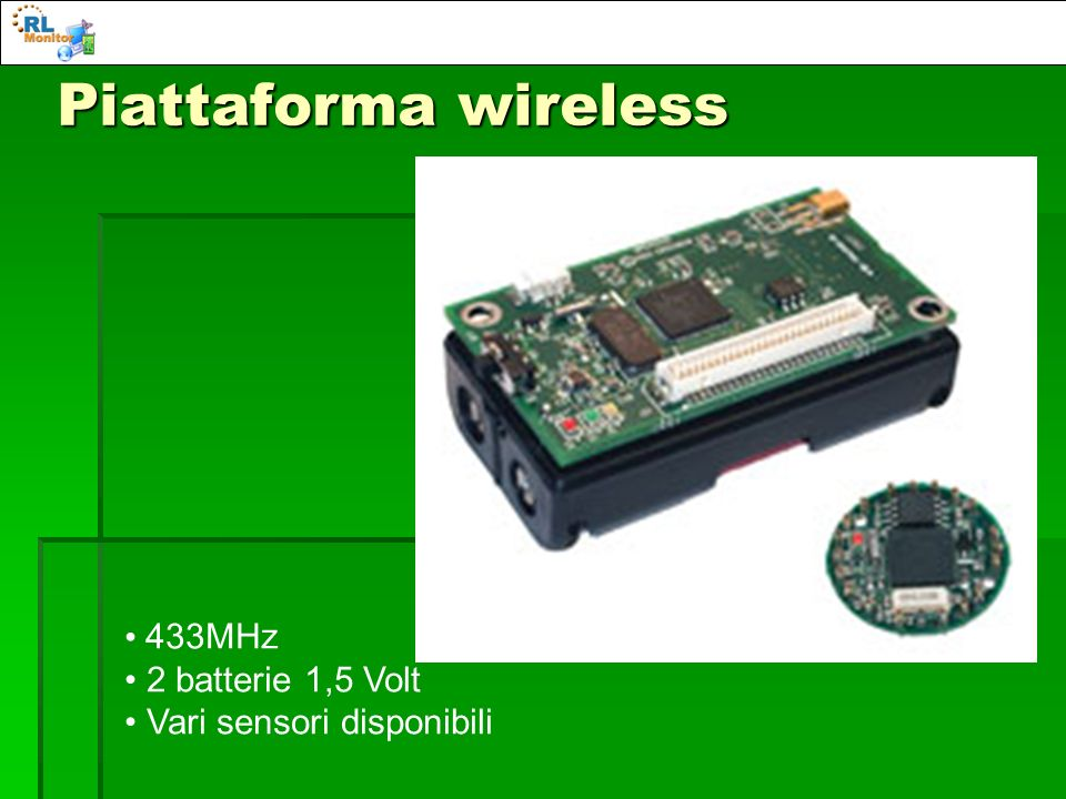 Piattaforma wireless 433MHz 2 batterie 1,5 Volt