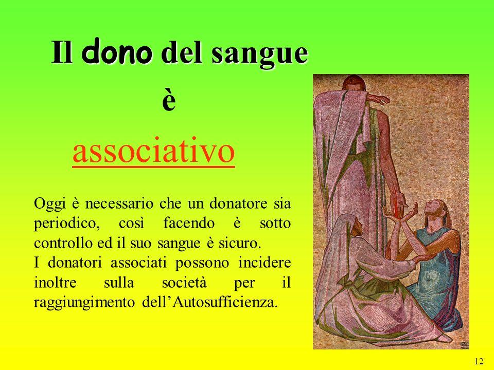 associativo Il dono del sangue è