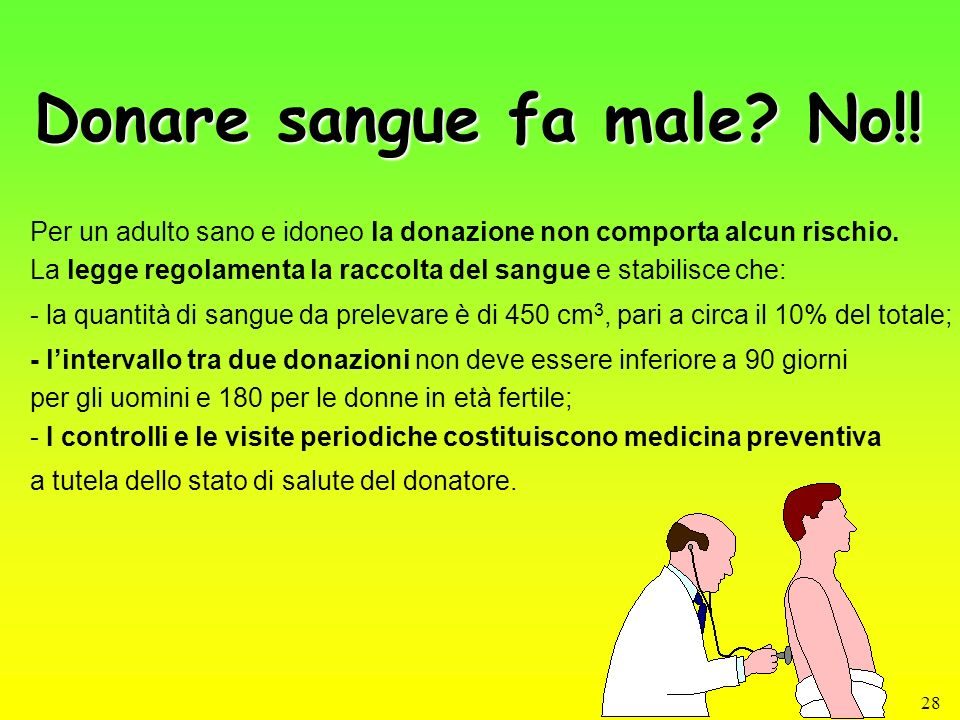 Donare sangue fa male No!!
