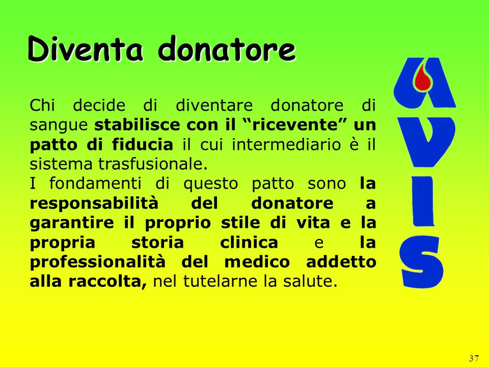 Diventa donatore