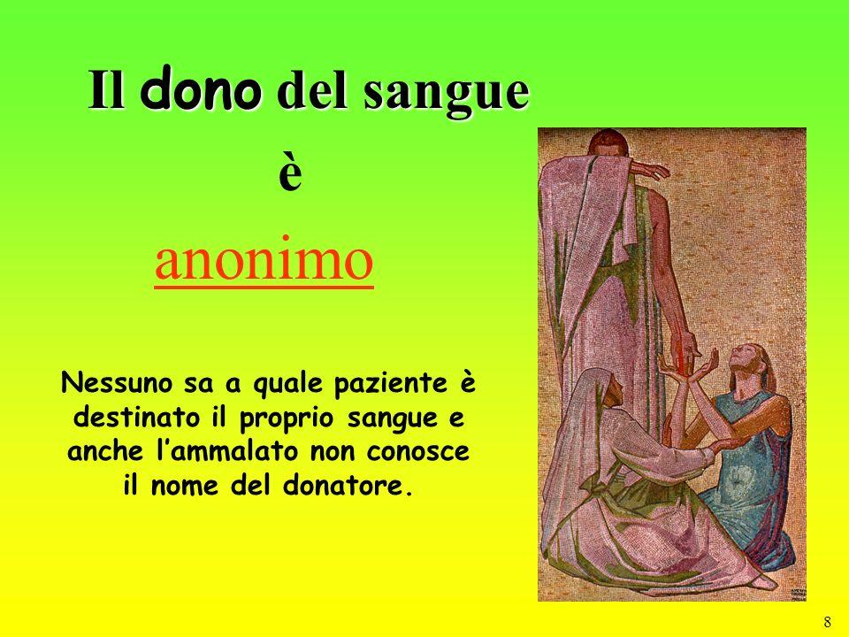 anonimo Il dono del sangue è
