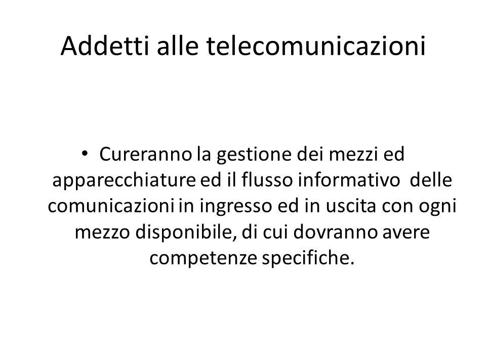Addetti alle telecomunicazioni