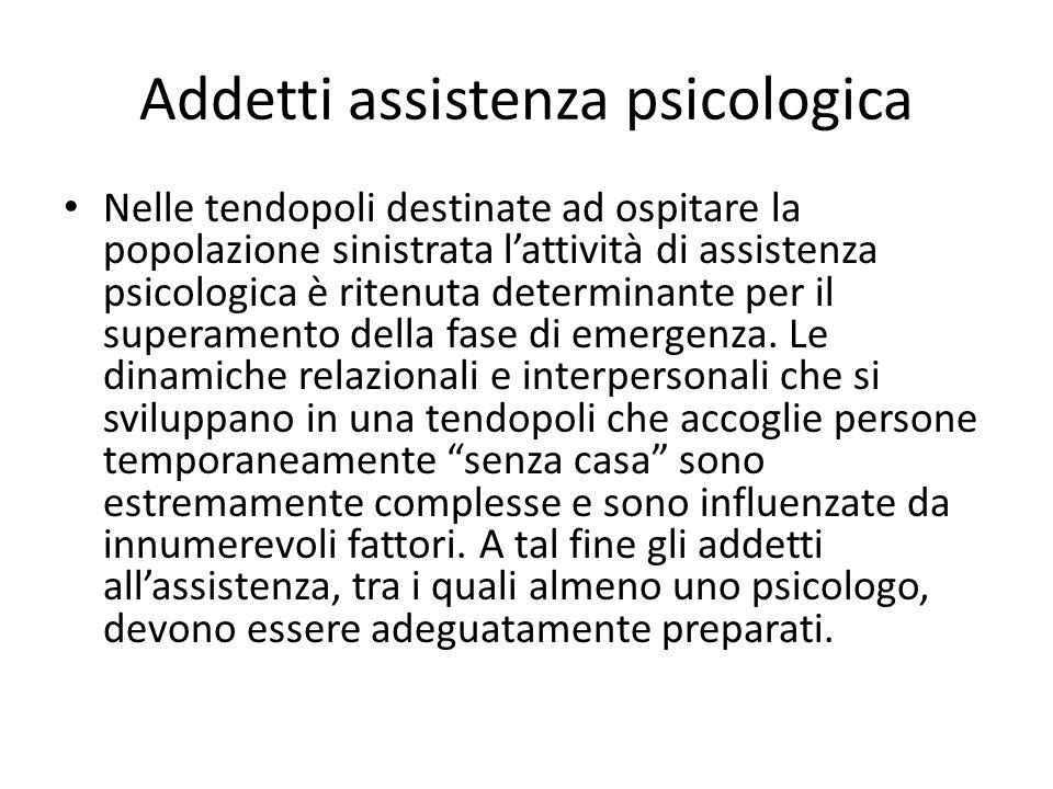 Addetti assistenza psicologica