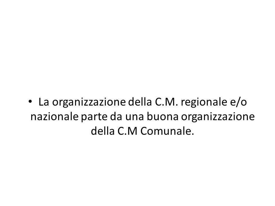 La organizzazione della C. M