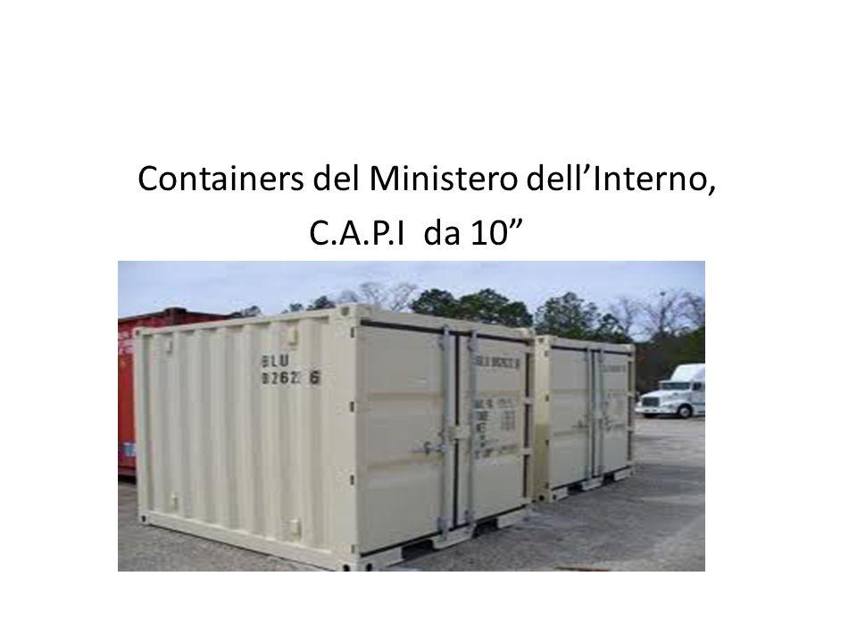Containers del Ministero dell'Interno, C.A.P.I da 10