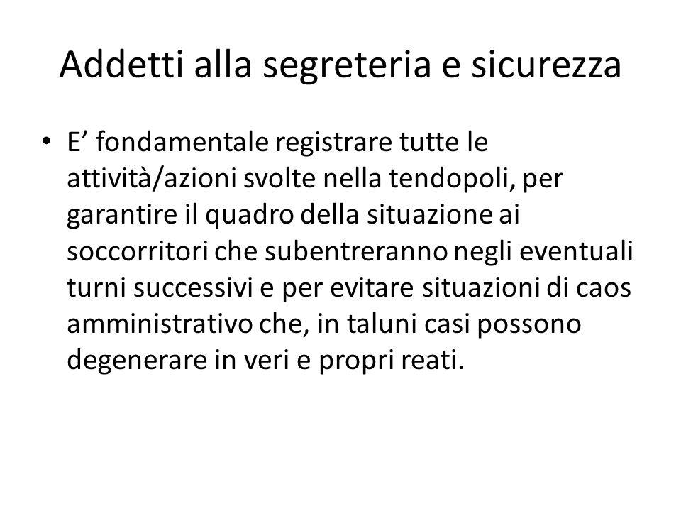 Addetti alla segreteria e sicurezza