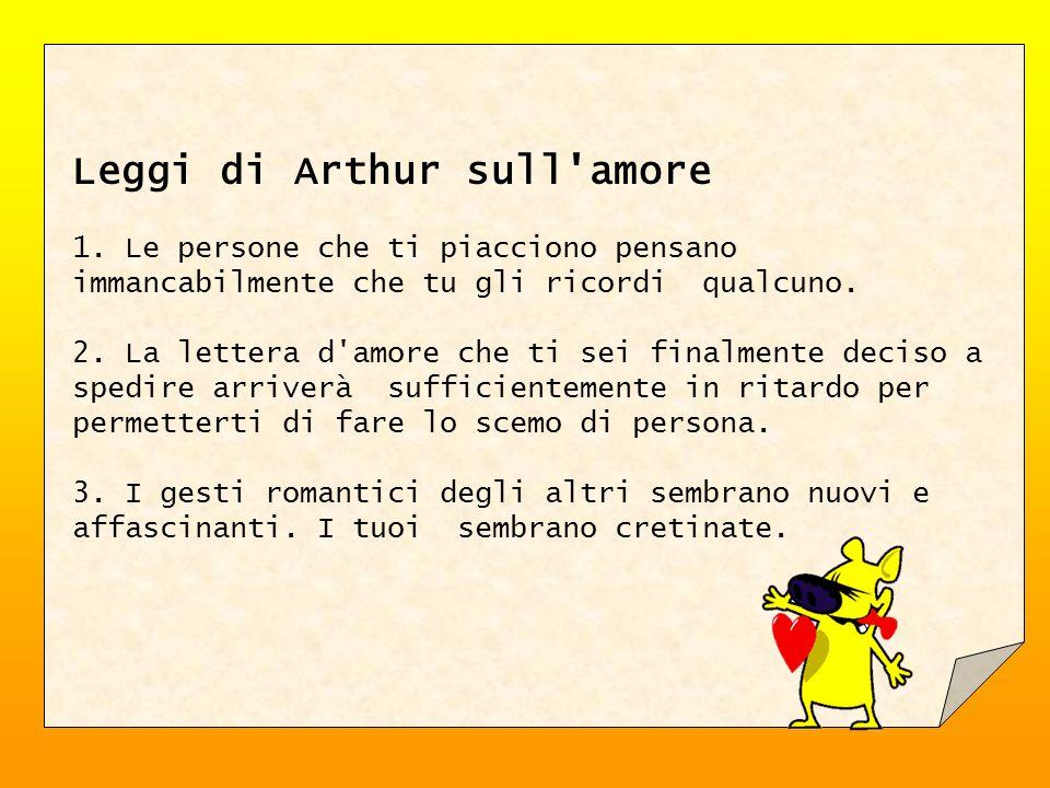 Leggi di Arthur sull amore