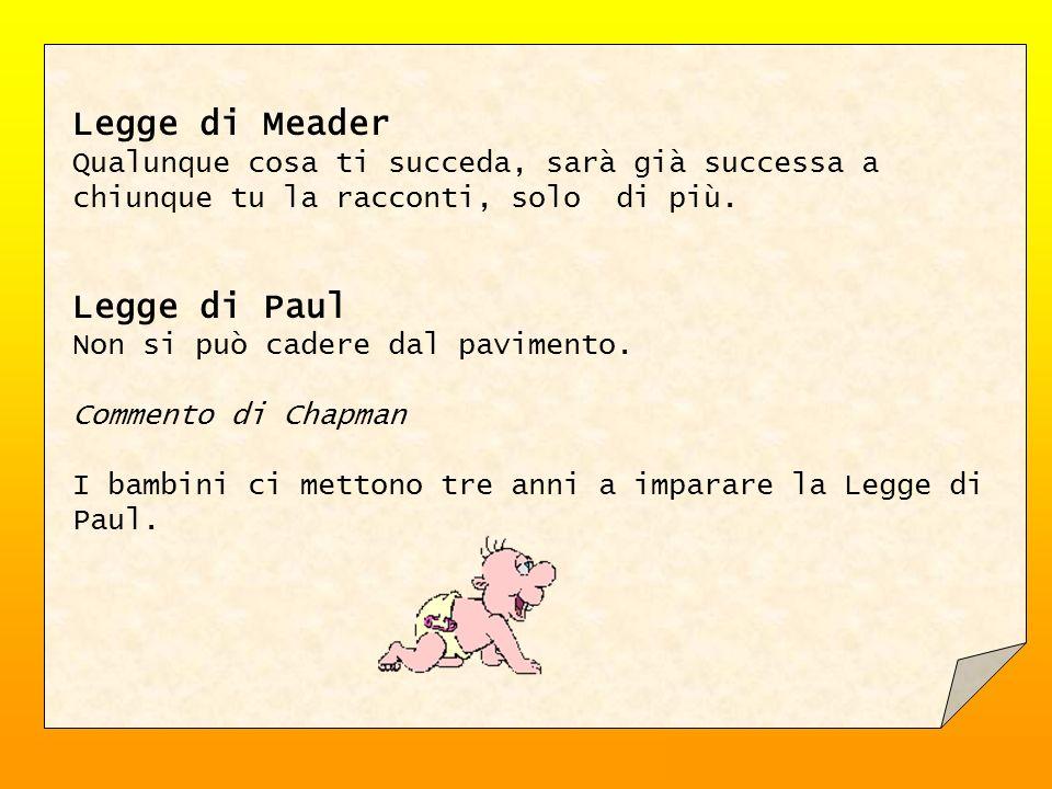 Legge di Meader Legge di Paul