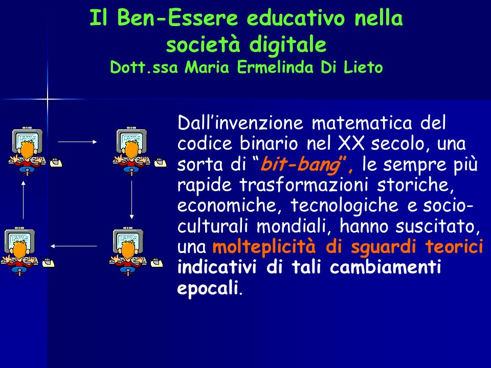 Il Ben-Essere educativo nella società digitale Dott