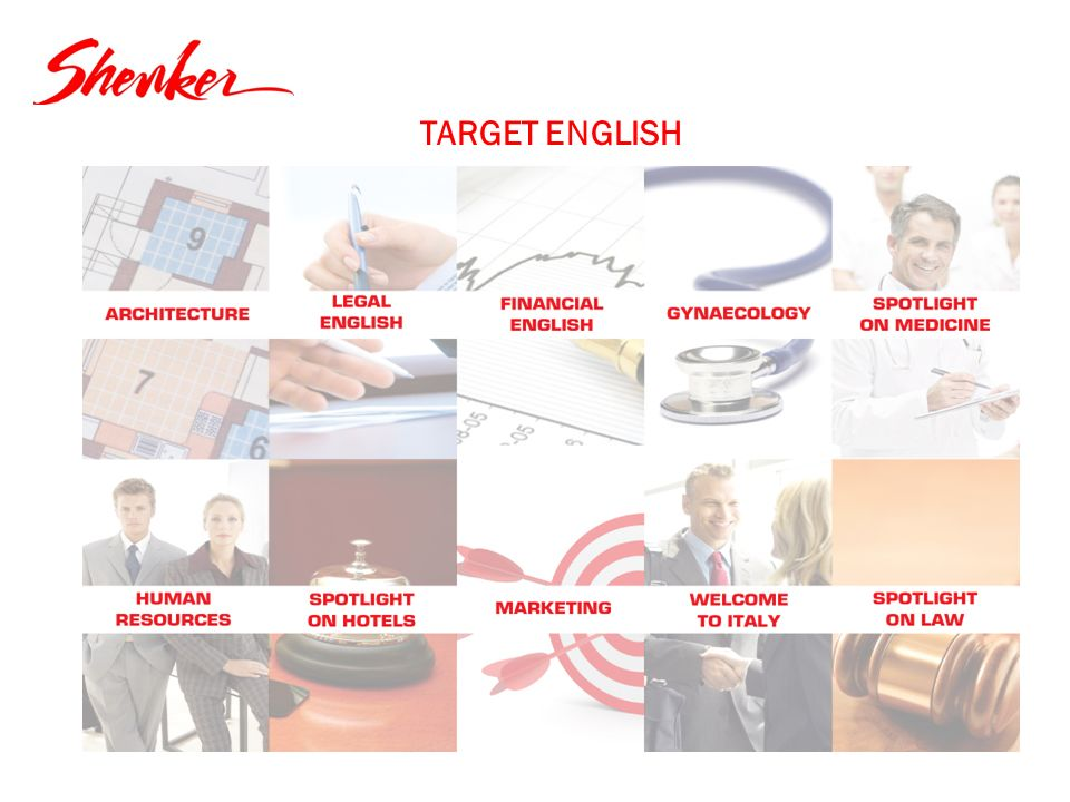 TARGET ENGLISH Riorganizzare in un chart ogni corso ( Lay out) definizione schematica organica