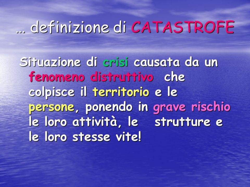 … definizione di CATASTROFE