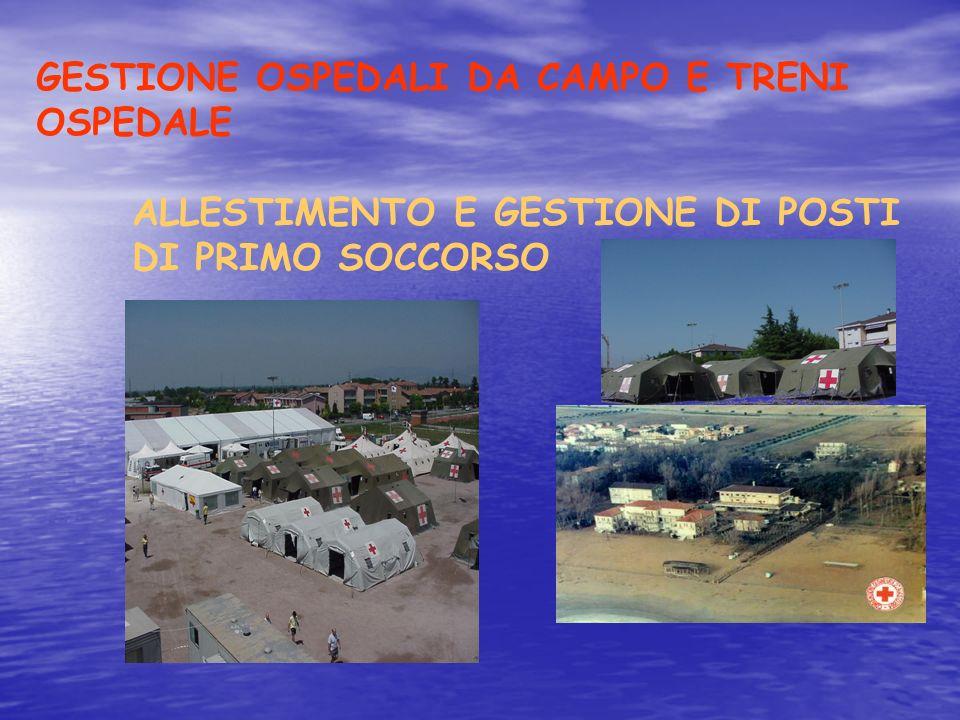 GESTIONE OSPEDALI DA CAMPO E TRENI OSPEDALE