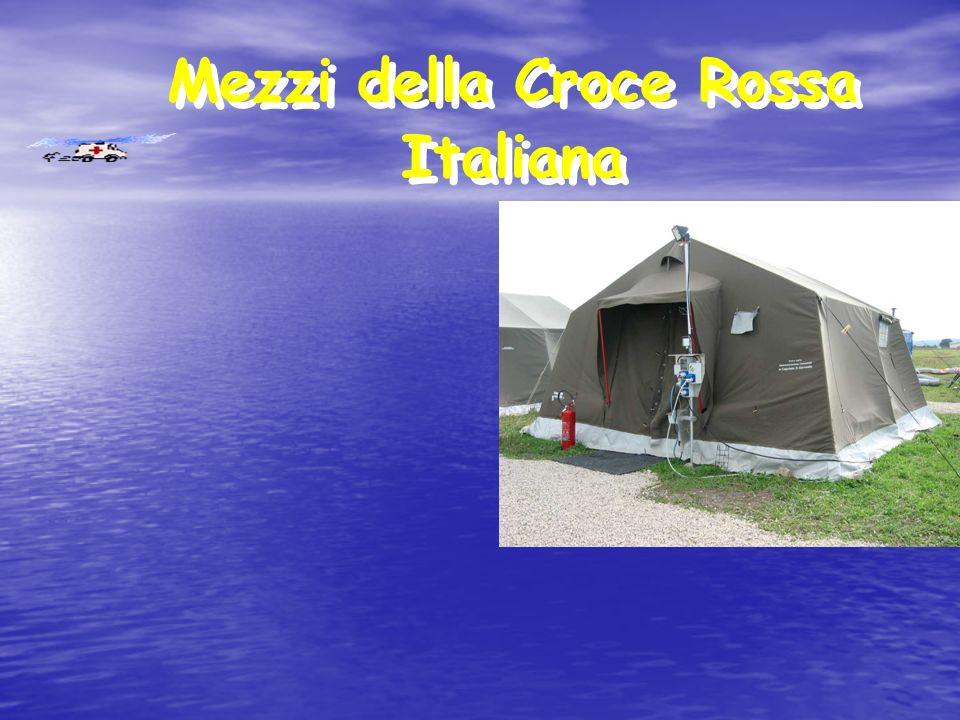 Mezzi della Croce Rossa Italiana