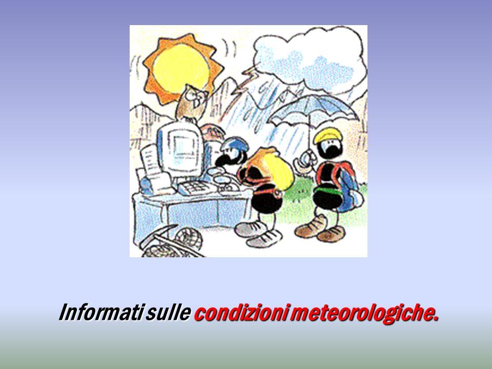 Informati sulle condizioni meteorologiche.