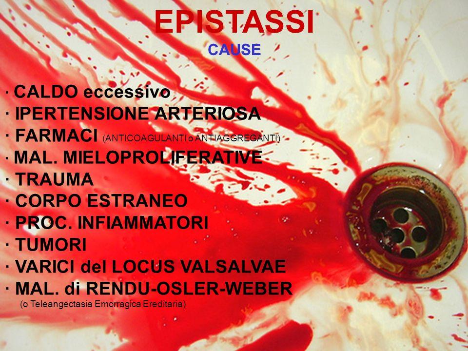 EPISTASSI · IPERTENSIONE ARTERIOSA