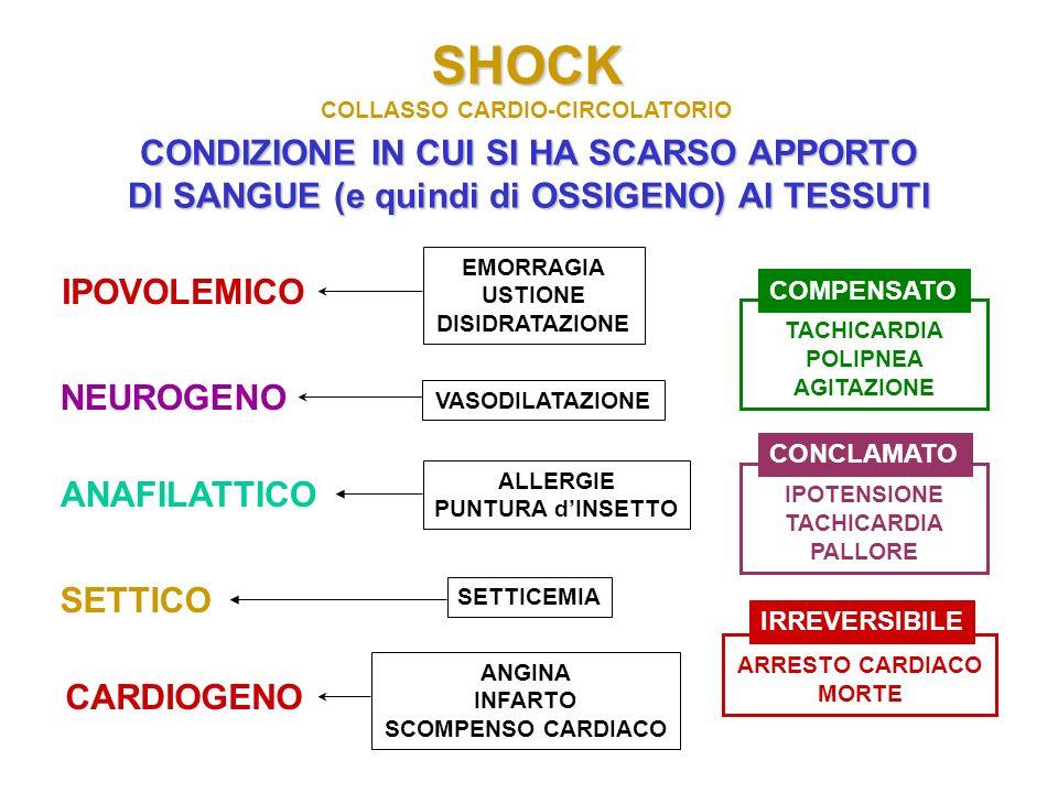 SHOCK CONDIZIONE IN CUI SI HA SCARSO APPORTO
